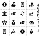 cash icons. vector collection... | Shutterstock .eps vector #773747344