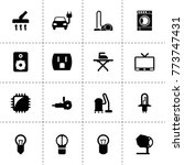 electrical icons. vector... | Shutterstock .eps vector #773747431