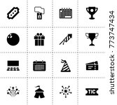 event icons. vector collection...