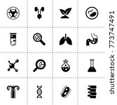 biology icons. vector...