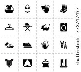 cloth icons. vector collection...