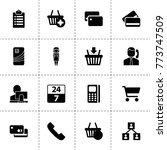 customer icons. vector...
