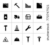 build icons. vector collection... | Shutterstock .eps vector #773747521