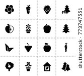 leaf icons. vector collection...