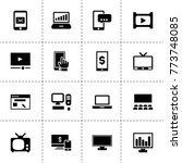 screen icons. vector collection ...