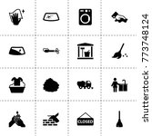 dirty icons. vector collection...
