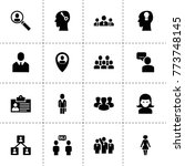 user icons. vector collection... | Shutterstock .eps vector #773748145