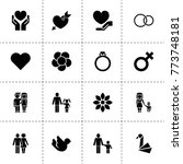 love icons. vector collection... | Shutterstock .eps vector #773748181