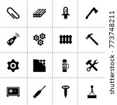 metal icons. vector collection...