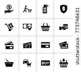 purchase icons. vector... | Shutterstock .eps vector #773748631