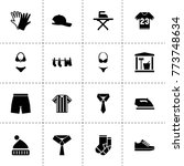 clothing icons. vector...