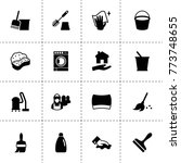 housework icons. vector...