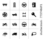drive icons. vector collection... | Shutterstock .eps vector #773748691