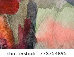 old grunge colored paint... | Shutterstock . vector #773754895