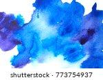blue abstract watercolor macro... | Shutterstock . vector #773754937