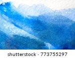 blue abstract grunge texture... | Shutterstock . vector #773755297