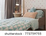 kid's bedroom with cozy bed and ... | Shutterstock . vector #773759755