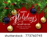 holidays greeting card for... | Shutterstock .eps vector #773760745