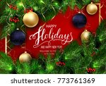 holidays greeting card for... | Shutterstock .eps vector #773761369