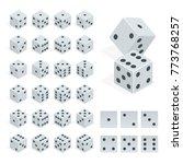 set of isometric dice... | Shutterstock .eps vector #773768257