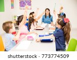 group of preschool students... | Shutterstock . vector #773774509