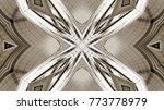 futuristic metal background | Shutterstock . vector #773778979