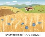 grain fields raster image. | Shutterstock . vector #77378023