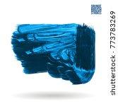 blue brush stroke and texture.... | Shutterstock .eps vector #773783269