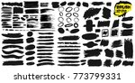 set of brush strokes text boxes.... | Shutterstock .eps vector #773799331
