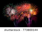 firework for background. | Shutterstock . vector #773800144
