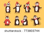 christmas penguin vector... | Shutterstock .eps vector #773803744