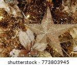 golden star ornament decor on...   Shutterstock . vector #773803945