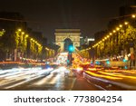 a night view of the traffic at... | Shutterstock . vector #773804254