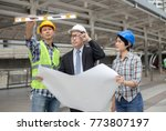 engineers are talking about... | Shutterstock . vector #773807197