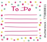 Cute Vector To Do List With...