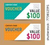 voucher coupon design | Shutterstock .eps vector #773812591
