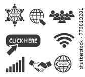 internet world wide web vector... | Shutterstock .eps vector #773813281