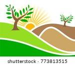 a beautiful nature wallpaper...   Shutterstock .eps vector #773813515