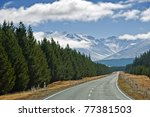 Road To Mt Cook Along With Pin...