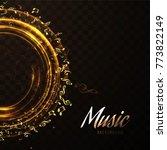 modern music background   Shutterstock .eps vector #773822149