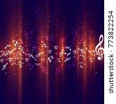 modern music background | Shutterstock .eps vector #773822254