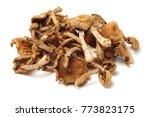 Dried Mushroom On White...