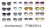 group of beautiful sunglasses... | Shutterstock . vector #773823511