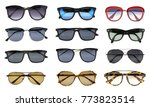 group of beautiful sunglasses... | Shutterstock . vector #773823514