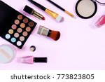 professional makeup products... | Shutterstock . vector #773823805