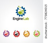 engine lab logo vector  icon ... | Shutterstock .eps vector #773824015