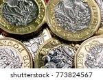 new shiny uk pound coin... | Shutterstock . vector #773824567