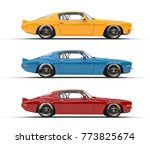 classic vintage american cars...   Shutterstock . vector #773825674