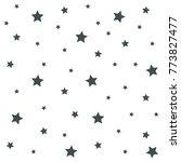 seamless texture of a stars.... | Shutterstock .eps vector #773827477