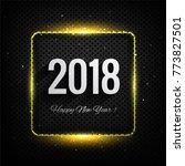 modern new year 2018 background   Shutterstock .eps vector #773827501